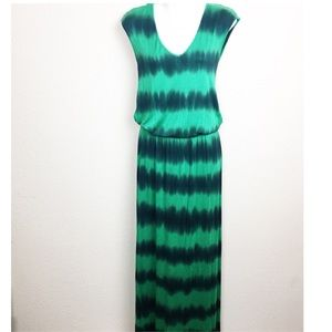 Sunday in Brooklyn Green tie-dye maxi Dress